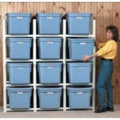 pvc tote storage - its for sale for lots of dollars, but iI think it would be easy to make! (and not too spendy!) My craft room is asking for it!!!