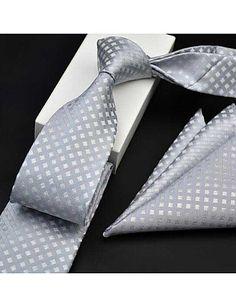 Men's Formal Cotton Necktie - Art Deco, Print