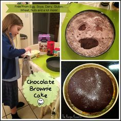 Free-From Dairy & Eggs Chocolate Brownie Cake - The Recipe Resource