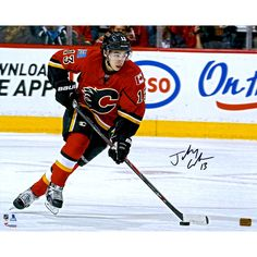 6dd7977e0 Johnny Gaudreau Calgary Flames Fanatics Authentic Autographed 16   x 20   Red  Jersey Skating With Puck Photograph