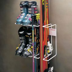 Racor - Two Pair Skis, Boots and Poles Storage Rack Free Ground Shipping offer. The Racor - Two Pair Skis, Boots and Poles Storage Rack is in stock and on sale. Shop for similar ski storage racks or purchase it here. Sports Equipment Storage, Ski Equipment, Garage Organization, Garage Storage, Organizing Ideas, Organized Garage, Basement Storage, Best Closet Systems, Boot Storage