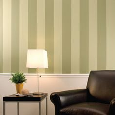 Painting Stripes on wall: also try alternating diff finishes of the same color
