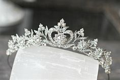 Bridal Tiara Crystal Heart Tiara  DIANA by EdenLuxeBridal on Etsy