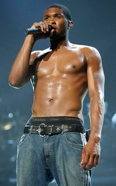 The Hottest Celebrity Abs! - Usher from Tarzan Actors, Cr7 Underwear, Red Swim Trunks, Usher Raymond, Freestyle Music, Posters Uk, Moves Like Jagger, Rap Albums, New Girlfriend