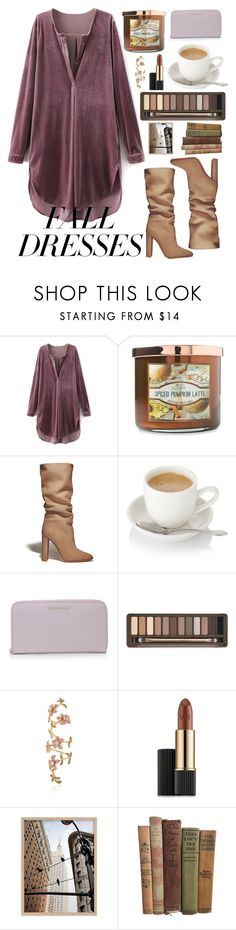 """""""#36 - Falling"""" by nicky-sr ❤ liked on Polyvore featuring Carolina Candle, Gianvito Rossi, Burberry, Urban Decay, Stéfère and Estée Lauder"""