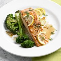 Citrus Salmon with Broccoli