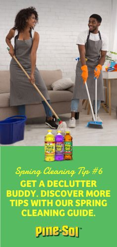 Another tip from Pine-Sol®? Find a declutter buddy to help you get organized an… - Home Cleaning Tips