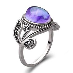 Sinwo Women Natural Amethyst Fashion Crystal Cubic Zirconia Band Ring Jewelry Gift *** Hope that you actually love the picture. (This is an affiliate link) Valentine's Day Rings, Band Rings, Amethyst Gemstone, Gemstone Jewelry, As You Like, Stones And Crystals, Jewelry Gifts, Fine Jewelry, Gemstones