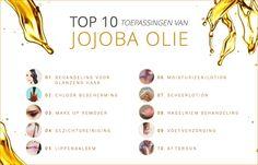 Jojoba olie kan op veel manieren gebruikt worden. Zowel voor je haar als voor je voeten. Voor Naturapharma hebben we de Top 10 van gebruiken van Jojoba olie op een rij gezet! Deze visual bieden we aan bij beautybloggers in ruil voor een link naar de bron, www.naturapharma.nl.