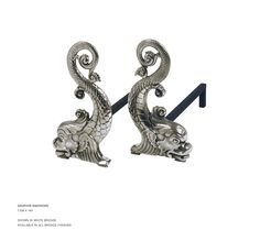 John Lyle Design - DAUPHIN ANDIRONS