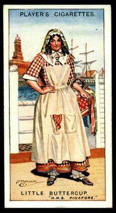 "https://flic.kr/p/h1SBxG | Cigarette Card - Little Buttercup, HMS Pinafore | Player's Cigarettes ""Gilbert & Sullivan"" (A series of 50 issued in 1925) #25 Little Buttercup ~ HMS Pinafore"