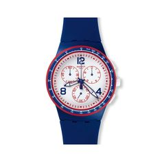 08aefdfc62d Swatch Unisex SUSZ100  Original  Chronograph Blue Silicone Watch