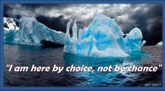 """"""" I am here by choice not by chance"""""""