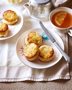 Take afternoon tea to the next level – Rebecca Sullivan's scones are topped with lemon-soaked sugar cubes to form a zesty, chewy layer.