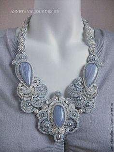 Want excellent tips concerning jewelry? Head out to my amazing website! Soutache Pendant, Soutache Necklace, Shibori, Beaded Embroidery, Jewelry Making, Pendants, Chain, Handcrafted Jewelry, Hand Crafts
