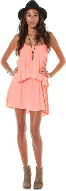 Ready for the beach!  PATTERSON J KINCAID IVY DROP RUFFLE DRESS > Womens > Clothing > Dresses | Swell.com