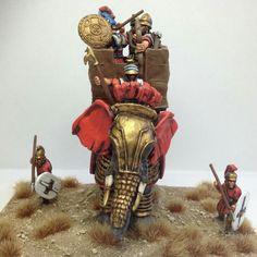 War Elephant, Samurai, Army, Kitchens, War, Elephants, Romans, Miniatures, Figurines
