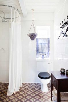 Scandinavian bathroom ideas with white shower curtain and black design country style bathrooms White Shower, White Bathroom, Small Bathroom, Bathroom Ideas, Moroccan Bathroom, Shower Bathroom, Shower Floor, Budget Bathroom, Bathroom Remodeling