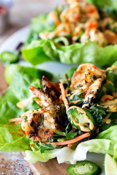 Grilled Shrimp Lettu