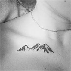 This collarbone mountain range. | 26 Gorgeous Tattoos To Inspire Every Nature Lover