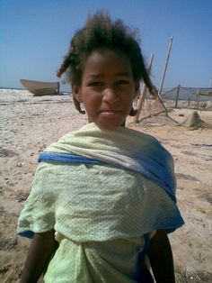 Girl from Mauritanian fisher village. The child-death of this region is so high that they not even registered and received any official papers before the age of five.