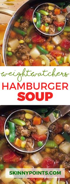 Hamburger Soup With only 2 Weight Watchers Smart Points