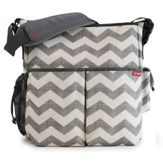 Skip Hop Duo diaper bag - This was my third diaper bag. Several things make this bag awesome. It has clips that allow you to attach it to any stroller. This frees up the under carriage of your stroller for other things. It has many compartments so it is not a bottomless pit like my first bag. Also, it is a great size, not too big or too small.