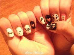 #Music #MusicNails #Nails #NailDesigns #Love #iPod