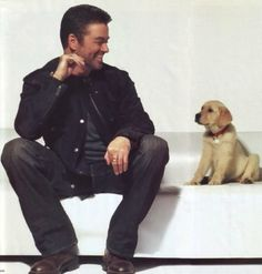 george and puppy