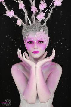 Peinado y maquillaje de Fantasía. Hadas de las flores. Fairy flowers.