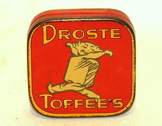 Dutch Droste Cocoa Sample Toffee Candy Tin 1920s