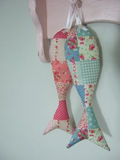 Hanging Lavender Fabric Fish - The Supermums Craft Fair