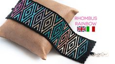 2 drop peyote bracelet pattern  Rainbow Rhombus  by AgapeBijoux