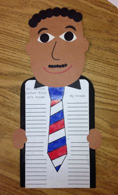 MLK - Dr. Martin Luther King day craft.  1st grade.