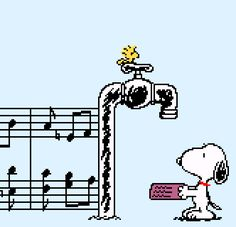 "whataniceone: "" vgjunk: "" Snoopy Concert, Super Famicom. "" If music be the food of … dog ! :) """