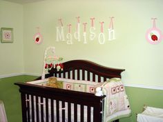 love the hanging letters over the crib!