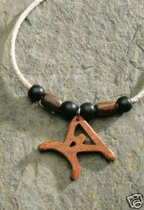 Hawaiian Necklace Wood Bead Hemp Paddler