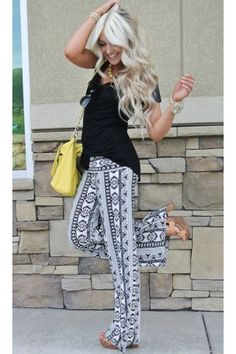 her hair and those pants!! <3