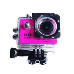 ราคาถูกๆ<SP>กล้องกันน้ำ Action Camera Sport Cam WiFi Full HD 1080p (สีชมพู)++กล้องกันน้ำ Action Camera Sport Cam WiFi Full HD 1080p (สีชมพู) (1 รีวิว) กันน้ำได้ลึก 30 เมตร คุณภาพการบันทึกระดับ Full HD เชื่อมต่อ Smart Phone ด้วย WiFi นำไปประยุกต์ใช้งานได้หลากหลาย ขนาดเล็ก น้ำหน ...++