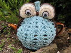 Owl Tea Cosy - duck egg blue