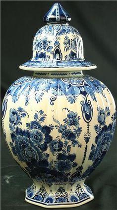 Vintage Delft Blue and White Ginger Jar Velsen by euroluxantiques, $510.00