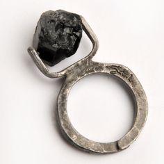 Tourmaline Ring Black  by Satish by Roula Dfouni
