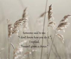 Someone said to me ...