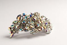 barrettes | Estiva Italian Swarovski crystal large hair clip for thick hair ...