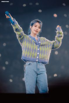 """IU Wistfully Remembers Her Close Friend Sulli With Dedicated """"Love Poem"""" Performance At Her Concert - Koreaboo Kpop Fashion, Korean Fashion, Fashion Outfits, Album Design, E Dawn, Sulli, Love Poems, Kpop Outfits, Korean Girl"""