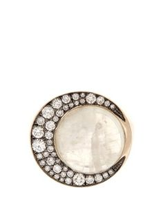Eclipse diamond and moonstone ring | Noor Fares | MATCHESFASHION.COM US