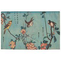 Utagawa Hiroshige: Birds and Camellia Bushes in Flower Print