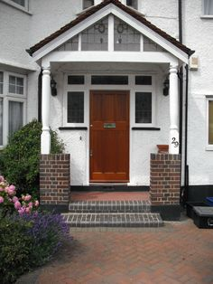 Bespoke Period Wooden,Victorian Edwardian And Georgian Style Front Doors And Sash Windows,Supplied And Fitted Across London And The Home Counties Shed Doors, 1930s House, Brick Pavers, Front Porch, Front Doors, Sash Windows, Home Remodeling, Entrance, Backyard