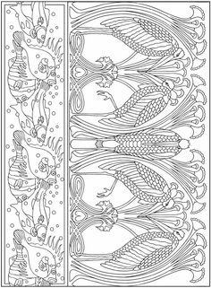 Love it - nouveau style fish and wading birds.