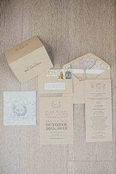 rustic kraft paper invites Photography by Our Labor of Love / ourlaboroflove.com, Invitations by http://www.lovevsdesign.com/